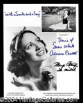 Autographs, Adriana Coselloti & Marge Champion Snow White Signed Photo