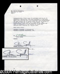 Autographs, Steven Spielberg Rare Signed Document