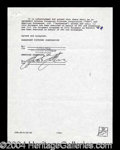 Autographs, Sylvester Stallone Rare Signed Movie Contract