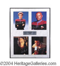 Autographs, Star Trek Signed Photo Display