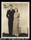 Autographs, James Stewart & Joan Crawford Vintage Signed Photo