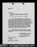 Autographs, Oliver Stone Rare Signed Contract for Scarface!