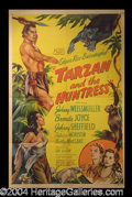 Autographs, Tarzan and The Huntress Original 1947 One Sheet Poster