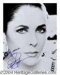 Autographs, Elizabeth Taylor Stunning Signed 11 x 14 Photo