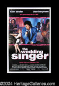 Autographs, The Wedding Singer Sandler/Barrymore Signed Movie Poster
