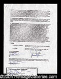Autographs, Dwight Yoakam & Billy Bob Thornton Signed Movie Document