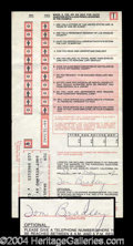 Autographs, Tom Bradley Signed Jury Duty Document
