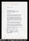 Autographs, Diahann Carroll Typed Letter Signed