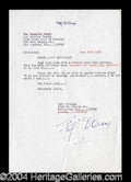 Autographs, Fifi D'Orsay Signed Jury Duty Document