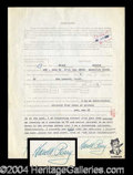 Autographs, Harold Peary Signed Jury Duty Document