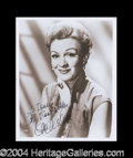 Autographs, Eve Arden Signed 8 x 10 Photograph