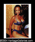 Autographs, Tyra Banks Signed Lingerie Photo!