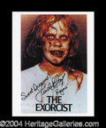 Autographs, Linda Blair Rare Signed Exorcist Photo