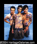 Autographs, Blink 182 Group Signed Photograph