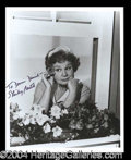 "Autographs, Shirley Booth Signed Photo as ""Hazel"""