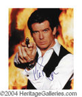Autographs, Pierce Brosnan Signed James Bond Photo