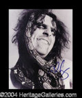 Autographs, Alice Cooper Awesome Signed Photo