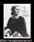 Autographs, Olivia de Havilland Signed Gone With The Wind 8 x 10 Photo