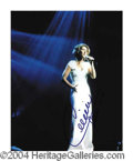 Autographs, Celine Dion In-Person Signed Concert Photo