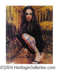 Autographs, Eliza Dushku In-Person Signed Photo