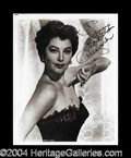 Autographs, Ava Gardner Signed 8 x 10 Photograph