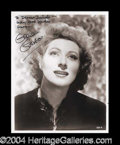 Autographs, Greer Garson Stunning Signed 8 x 10 Photo