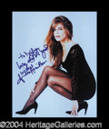 Autographs, Linda Hamilton Sexy Signed Photo
