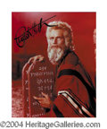 Autographs, Charlton Heston Beautiful Ten Commandments Signed Photo