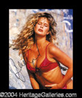 Autographs, Rachel Hunter Busty Signed Photo