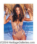 Autographs, Heidi Klum Very Sexy Signed Photo