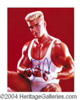 Autographs, Dolph Lundgren Signed Rocky V Photo
