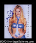 Autographs, Cindy Margolis Sexy Signed 8 x 10 Photo