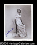 Autographs, Dina Merrill Vintage Signed 8 x 10 Photo