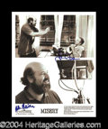 "Autographs, Misery"" James Caan/Rob Reiner Signed Photo"