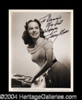 Autographs, Terry Moore Vintage Signed Photograph