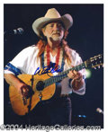 Autographs, Willie Nelson Signed 8 x 10 Photo