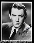 Autographs, Gregory Peck Signed 8 x 10 Photograph