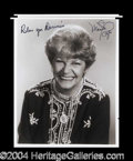 Autographs, Martha Raye Signed 8 x 10 Photograph