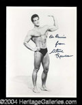 Autographs, Steve Reeves Young Signed 8 x 10 Photograph