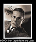 Autographs, Randolph Scott Signed 8 x 10 Photograph
