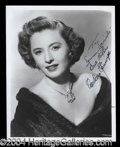 Autographs, Barbara Stanwyck Signed 8 x 10 Photograph