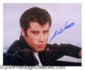 Autographs, John Travolta In-Person Signed 'Grease' Photo