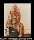 Autographs, Mamie Van Doren Signed 8 x 10 Photo
