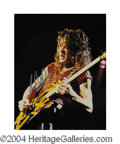 Autographs, Eddie Van Halen In-Person Signed Photo