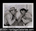 Autographs, Chill Wills Signed 8 x 10 Photograph