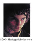 Autographs, Elijah Wood In-Person Signed LOR Photo