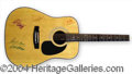 Autographs, Alabama Signed Acoustic Guitar