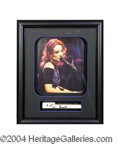 Autographs, Tori Amos Signed Framed Piano Key