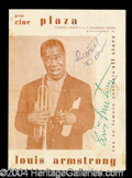 Autographs, Louis Armstrong Vintage Signed Program