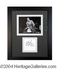 Autographs, Chuck Berry Signed Framed Display